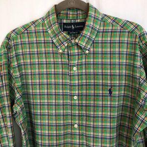 MEN'S Ralph Lauren Custom Fit Plaid Button Shirt